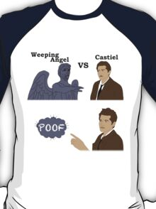 Weeping Angel VS Castiel T-Shirt
