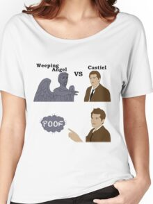 Weeping Angel VS Castiel Women's Relaxed Fit T-Shirt