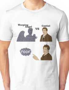 Weeping Angel VS Castiel Unisex T-Shirt