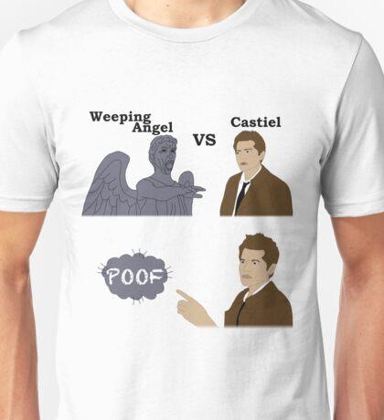 Weeping Angel VS Castiel Unisex T-Shirt