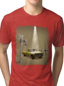 Watch the skies Tri-blend T-Shirt