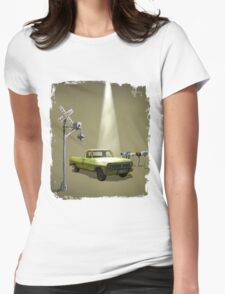 Watch the skies Womens Fitted T-Shirt