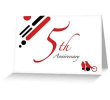 5th Anniversary Greeting Card