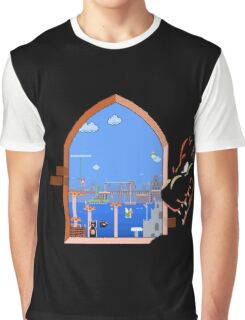 Our Hero Approaches (Black Background) Graphic T-Shirt