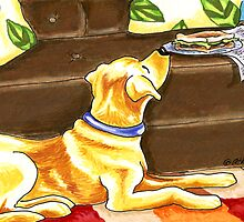 Temptations | Yellow Lab by offleashart