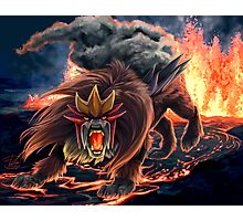 Roar of Entei Photographic Print