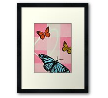 Pink & Blue Framed Print