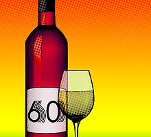 60 years bottle of wine by maydaze