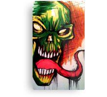Vibrant Skull Metal Print