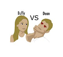 Buffy VS Dean Photographic Print