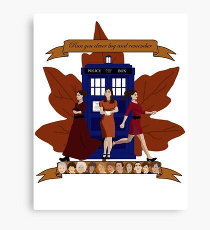 Clara and The Doctors Canvas Print