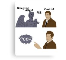Weeping Angel VS Castiel Canvas Print
