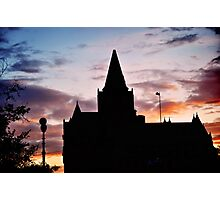 Parliament Silhouette Photographic Print