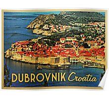 Vintage Dubrovnik Croatia Poster