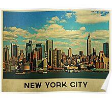Vintage New York City Skyline Poster