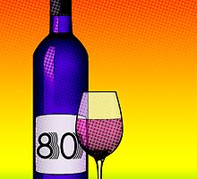 80 years bottle of wine by maydaze