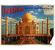 Vintage India Taj Mahal Poster