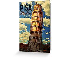Vintage Tower Of Pisa Greeting Card