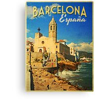 Vintage Barcelona Spain Canvas Print