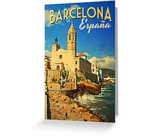 Vintage Barcelona Spain Greeting Card