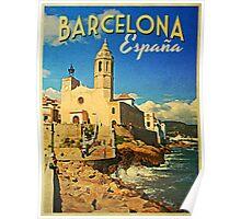 Vintage Barcelona Spain Poster
