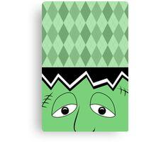 Cartoon Frankenstein Monster Face Canvas Print