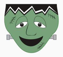 Cartoon Frankenstein Monster Face Kids Tee