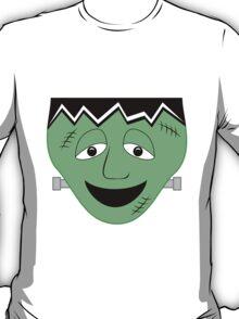 Cartoon Frankenstein Monster Face T-Shirt