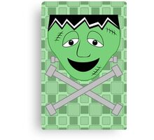 Frankenstein Monster Face And Crossbolts Canvas Print