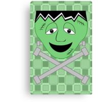 Frankenstein Monster Face And Crossbolts Canvas Print