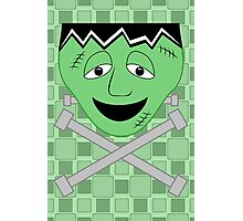 Frankenstein Monster Face And Crossbolts Photographic Print