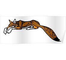 Sleeping Red Wolf Poster