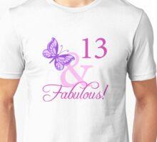 Fabulous 13th Birthday For Girls Unisex T-Shirt