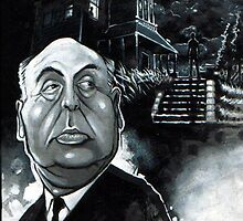 Alfred Hitchcock by hollandart