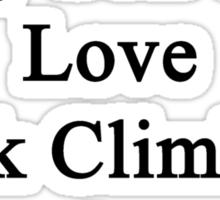 I'll Teach My Son To Love Rock Climbing As Much As I Do  Sticker