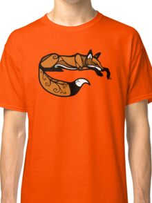 Curled Up Red Fox Classic T-Shirt