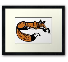 Curled Up Red Fox Framed Print