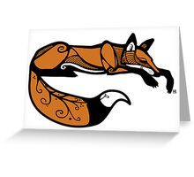 Curled Up Red Fox Greeting Card