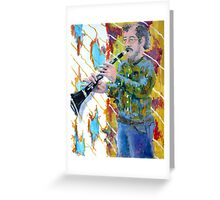 Man playing a clarinet Greeting Card