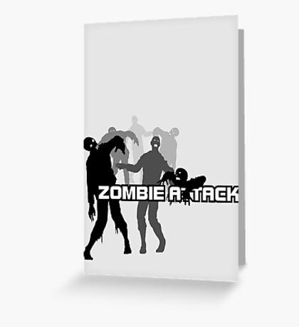Zombie Attack Greeting Card