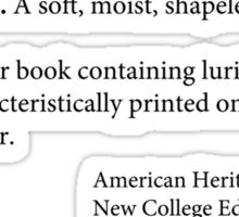 Pulp Fiction Definition of PULP Sticker