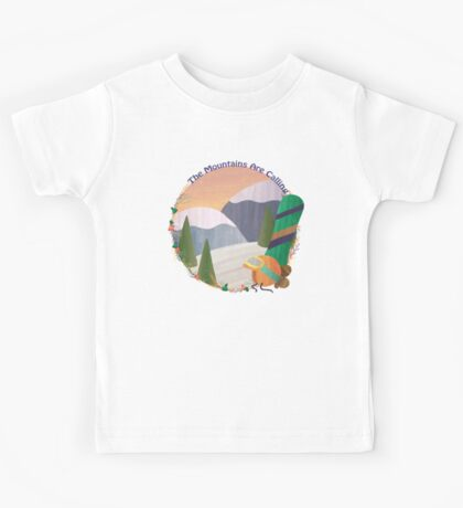 Mountains Are Calling - Snowboard Kids Tee