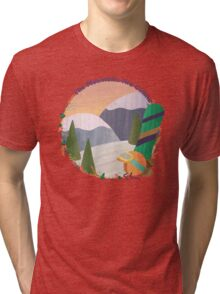 Mountains Are Calling - Snowboard Tri-blend T-Shirt