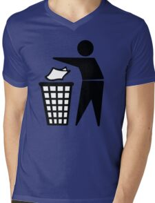 Do Not Litter Symbol Mens V-Neck T-Shirt