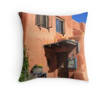 Santa Fe Adobe Building Throw Pillow