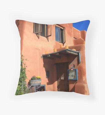Santa Fe Adobe Building Throw Pillow