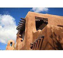 Santa Fe Adobe Building Photographic Print