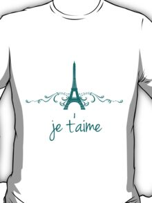 Teal Vintage French Flourish T-Shirt