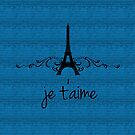 Blue Vintage French Flourish by superstarbing