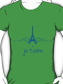 Blue Vintage French Flourish T-Shirt